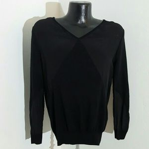 Sandro black cashmere blend sweater size 2